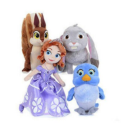 Disney Princess Sofia the First Plush Toy - Whatnaught the Squirrel NEW