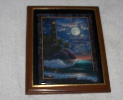 Al Hogue Fortress Of Faith 4th Sentinels Of Sea Lighthouse Framed Plate Psalm 43