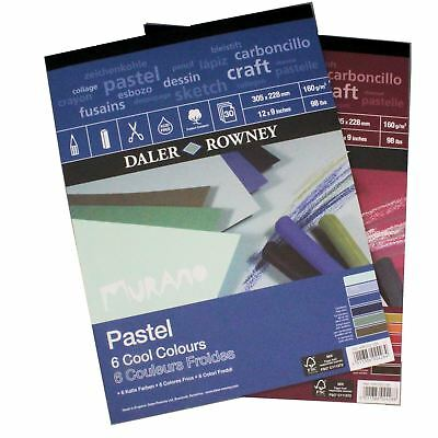 "Pastel Paper 12""x9"" cool warm colour Murano pad art pads sketchbooks soft pastel"