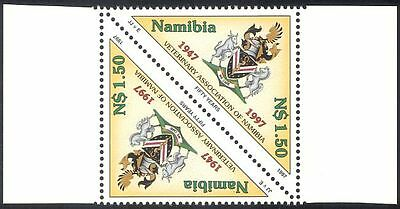 Namibia 1997 Veterinary Association/Horse/Cattle/Coat-of-Arms 1v t-b pr (n20143)