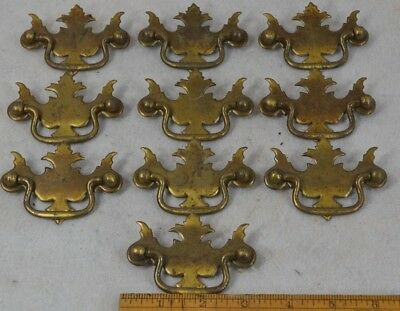 antique drawer pulls metal plates drop handle 10 matching antique brass