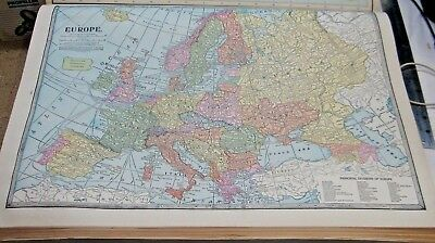 1933 Map Of Europe From The Commercial Atlas of the World