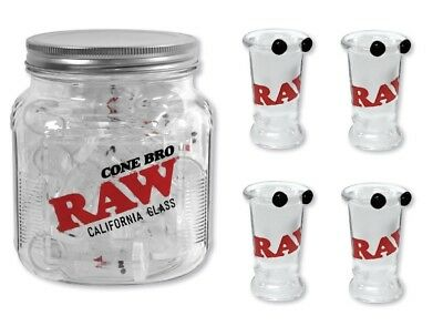 "4X RAW Rolling Papers ""California Roor / CONE BRO"" Glass Tip Cigarette Holders"