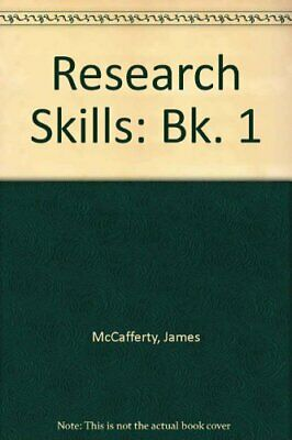 Research Skills: Bk. 1 by McCafferty, James Paperback Book The Cheap Fast Free