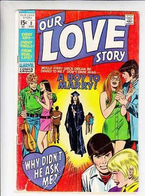 Our Love 8 Story strict VG 4.0 1972  A Boy to Marry more romance at Kermitspad