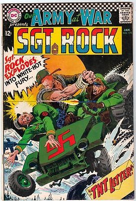 Our Army at War 175 Strict FN/VF- 7.0 High-Grade Sgt. Rock more DC War Listed