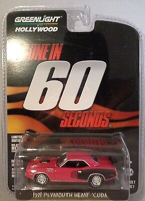 Panther Pink 1971 Plymouth Hemi Cuda Greenlight 1:64 Scale Diecast Metal Car