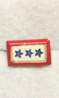 WWII Sweetheart Plastic Son-in-Service pin - 3 Stars