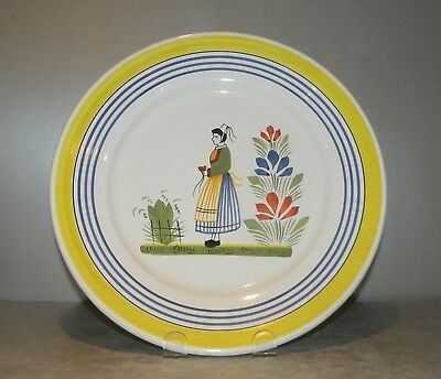 NEW Luncheon Plate Lady Henriot,  Henriot Quimper from France