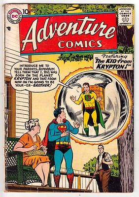 Adventure Comics 242 Strict 1957 VG+Affordable-Grade Superboy Green Arrow & More