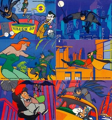 Batman Animated 1993 Topps Complete Cel Insert Card Set Of 6 Dc