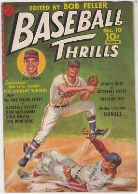 Baseball Thrillers #10 Bob Feller strict VF+ 8.5 High-Grade Sports Comic & more