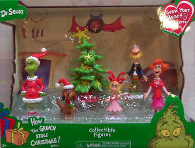 Just Play Dr. Seuss Grinch Holiday Figures Set Includes: Grinch max BRAND NEW