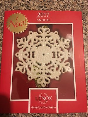 Lenox 2017 Snow Fantasies Snowflake Ornament 4 Inches In Height Brand New
