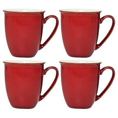 NEW Denby Everyday Set of 4 Mugs - Red Salsa