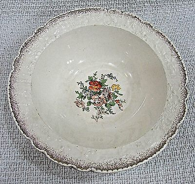 Universal Potteries Cambridge Ohio 22k Old Holland Ware USA Serving Bowl FREE SH
