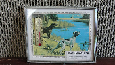 VTG Eleanor's Bar, advertising thermometer sign,Omro Wi