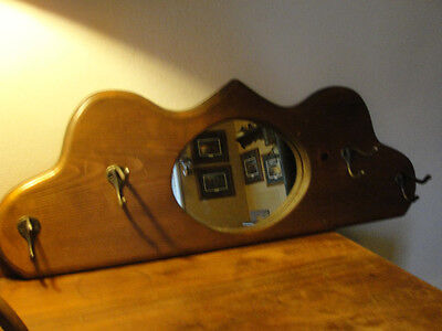 Mirrored wood hat or jacket or coat wall hanging mount it western,old nice rack