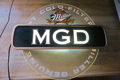 MGD Cold filtered Genuine Draft Miller rotating in motion lighted bar old sign