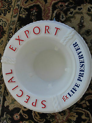 Special Export plastic nautical, life ring ice bucket, life preserver, beer adv