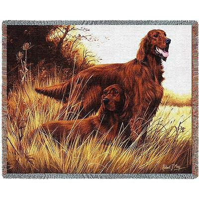 Throw Tapestry Afghan - Irish Setters 1140 IN STOCK
