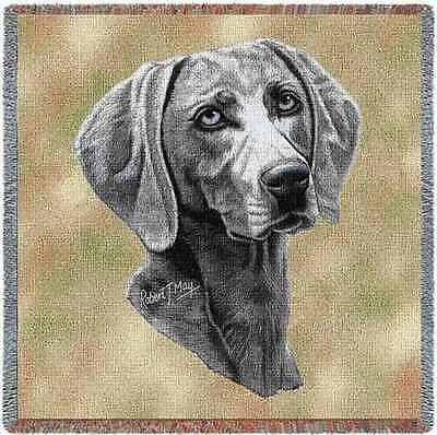 Lap Square Blanket - Weimaraner by Robert May 1171 IN STOCK