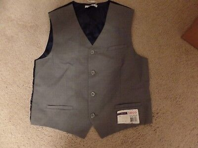 IZOD, Boy's Suit Vest, Med Grey, Large 14/16, New with Tags