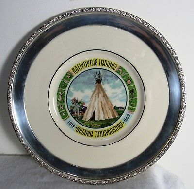 California Indians Golden Anniversary Plate With Sterling Frame Lenox China