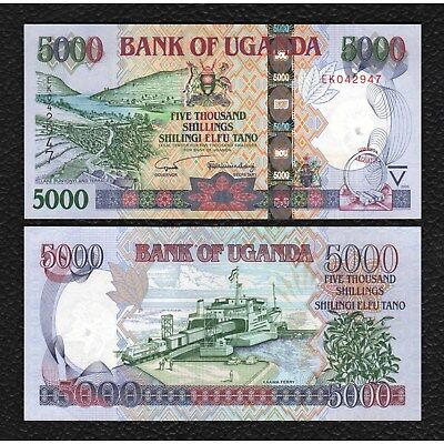 Uganda P-44 ND(2005) 5000 Shillings-Grades Crisp Uncirculated