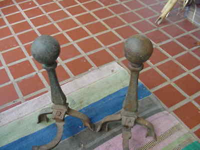Rusty Cannon Ball Style Andirons You Restore