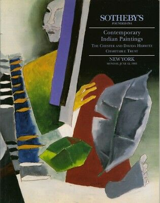SOTHEBY'S CONTEMPORARY INDIAN ART HERWITZ COLLECTION Auction Catalog 1995
