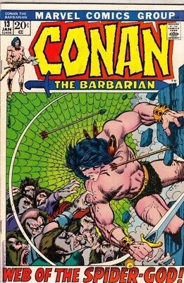 Conan the Barbarian 13 strict VF+ 8.5 1972  The Spider-God!!! more@Kermitspad!!