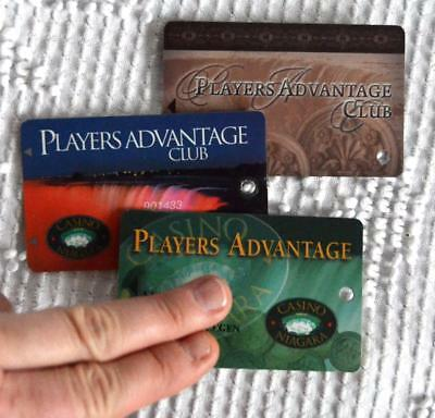 1996 Vintage Lot of 3 Different CASINO NIAGARA FALLS Fallsview Loyalty Slot Card