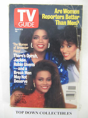 TV Guide    March 18-24 1989  The Women Of Brewster Place--Oprah-Robin-Jackee