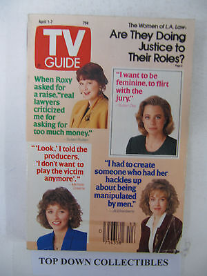 TV Guide    April 1-7 1989   The Women Of L.A. Law