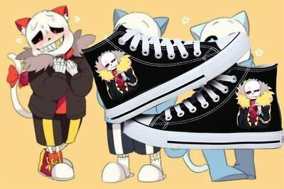 New! Anime Undertale cosplay personality High help canvas shoes Leisure SHOES FF