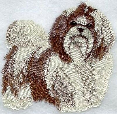 Large Embroidered Zippered Tote - Shih Tzu I1148