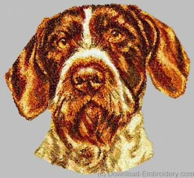 Large Embroidered Zippered Tote - German Wirehaired Pointer DLE1543