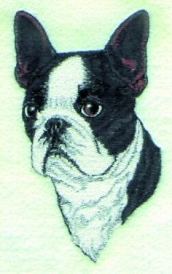 Large Embroidered Zippered Tote - Boston Terrier BT2622