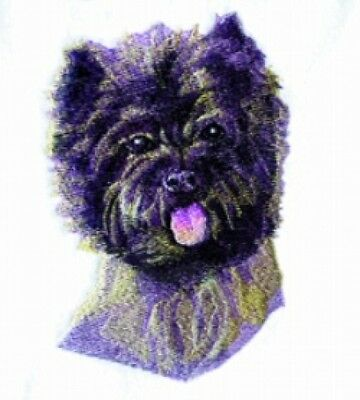 Large Embroidered Zippered Tote - Cairn Terrier BT3601