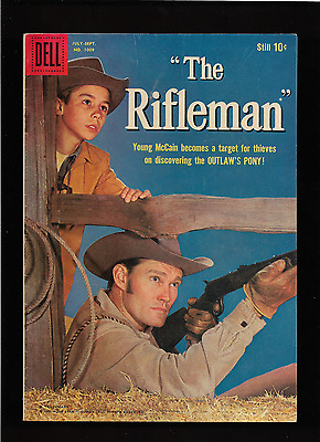 """1959 1st ISSUE """" THE RIFLEMAN  """" DELL # 1009  COMIC BOOK COMPLETE HI GRADE NICE"""