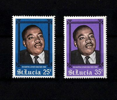 St Lucia - 1968 - Martin  Luther  King, Jr - Civil Rights - Mint - Mnh Set!