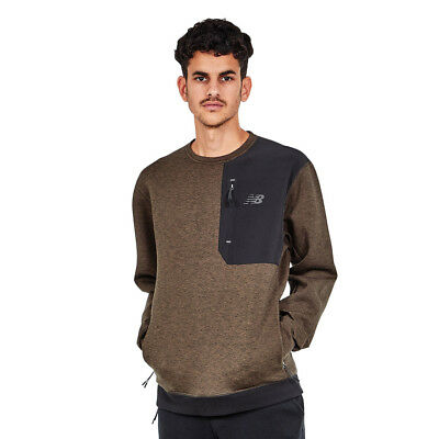 New Balance - 247 Luxe Crew Sweater Military Dark Triumph Green Pullover