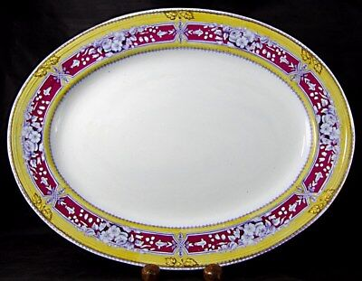 """Staffordshire 13¾"""" AVON Pattern Platter, by Livesley Powell & Co, 1851-66"""