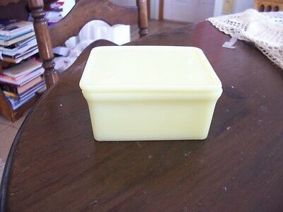 "McKee yellow Seville 4"" by 5"" refrigerator dish"
