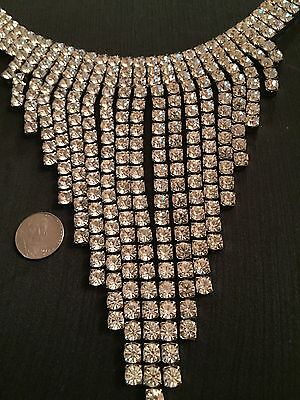 STUNNING RHINESTONE Necklace DANCING WITH THE STARS Style LARGE Swarovski Stones