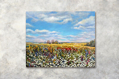 "Flower sea Art Printed Painting on Canvas 1Parts Home Wall Decor 16x20"" 600"