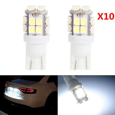 10x T10 194 168 2825 W5W 20-SMD LED White Super Bright Car Reading Lights Bulbs