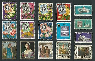 y2886 Paraguay /  A Small Collection Early & Modern Lhm Used