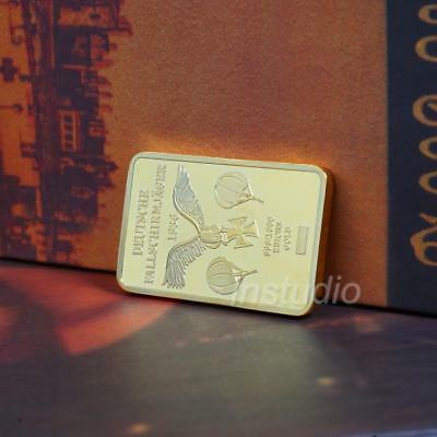 German Paratroopers 1936 Gold Square Commemorative Collection Coin Gift Pop